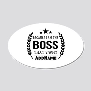 Gifts for Boss Personalized 20x12 Oval Wall Decal