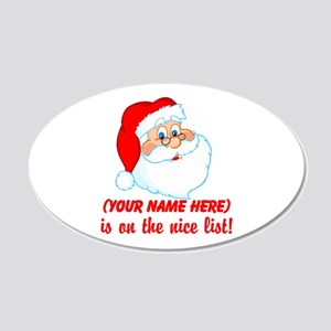 Personalized Nice List 22x14 Oval Wall Peel