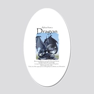 Advice from a Dragon 20x12 Oval Wall Decal
