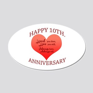 10th. Anniversary 20x12 Oval Wall Decal