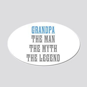Grandpa The Man Myth Legend Wall Decal