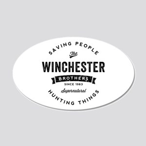SUPERNATURAL Winchester Bros 20x12 Oval Wall Decal