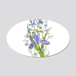Blue Bouquet Wall Decal