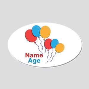 CUSTOMIZE Happy Birthday Any Age Wall Decal
