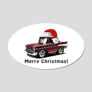 Classic Car 57 Chevy Wall Decals - CafePress