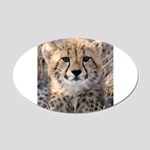 Cheetah Cub 22x14 Oval Wall Peel