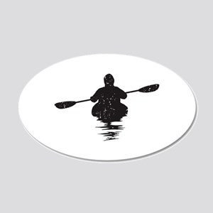 Kayaking 20x12 Oval Wall Decal