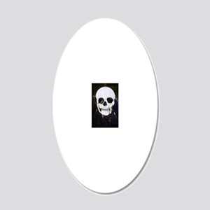 skull illusion 20x12 Oval Wall Decal