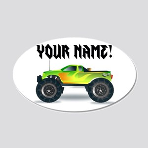 Personalized Monster Truck 20x12 Oval Wall Decal