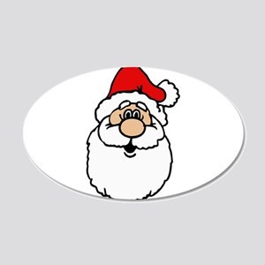 Cute santa head Wall Decal