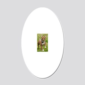 Pit Bull 11 20x12 Oval Wall Decal