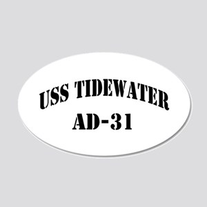 USS TIDEWATER 20x12 Oval Wall Decal