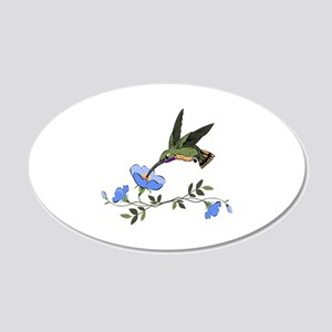 HUMMINGBIRD AND FLOWERS Wall Decal