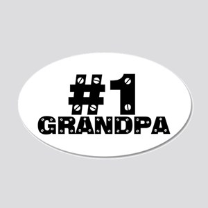 #1 Grandpa 22x14 Oval Wall Peel