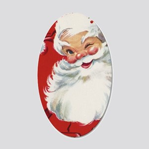 Vintage Christmas Jolly Sant 20x12 Oval Wall Decal