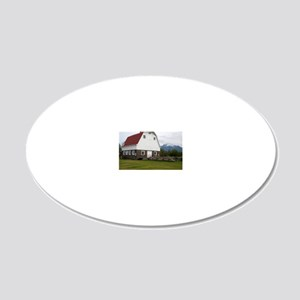 Wineck barn 20x12 Oval Wall Decal