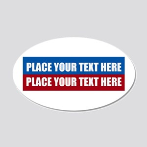 America Text Message 20x12 Oval Wall Decal