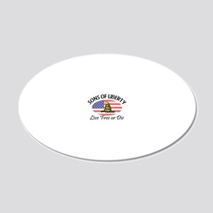 Sons-of-Liberty-(oval-flag)- 20x12 Oval Wall Decal