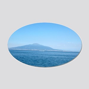 Mt. Vesuvius  20x12 Oval Wall Decal