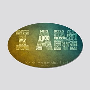 I AM Word Art 20x12 Oval Wall Decal