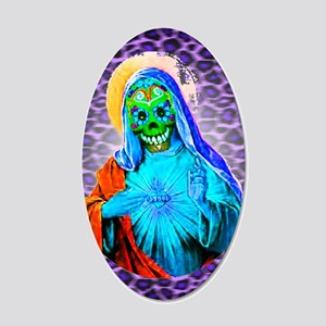 Santa Muerte Wall Decals Cafepress