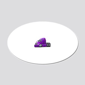 Kenworth 660 Purple Truck 20x12 Oval Wall Decal