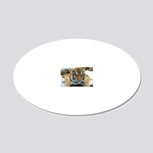 Tiger Watch 20x12 Oval Wall Decal
