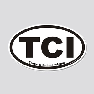 Turks & Caicos Islands TCI Euro 20x12 Oval Wall Pe