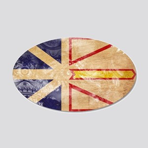 Newfoundland Flag 22x14 Oval Wall Peel