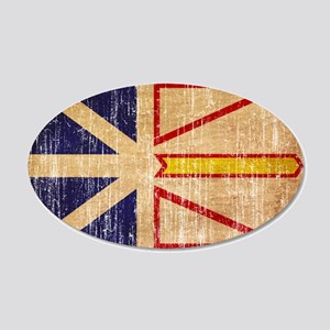 Newfoundland Flag 20x12 Oval Wall Decal