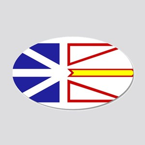 Newfoundland and Labrador 22x14 Oval Wall Peel
