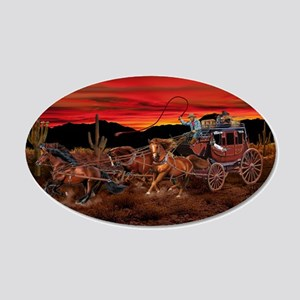 Stagecoach Cowboys Wall Decal