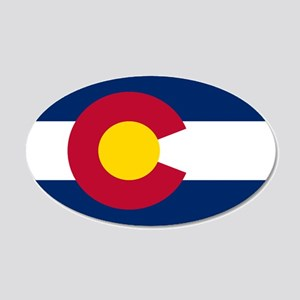 Colorado State Flag 20x12 Oval Wall Peel