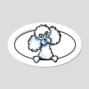 White Toy Poodle Funny 22x14 Oval Wall Peel