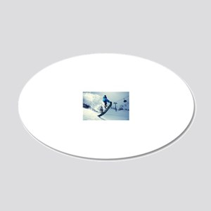 Snowboard extreme 20x12 Oval Wall Decal
