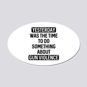 End Gun Violence Now 22x14 Oval Wall Peel