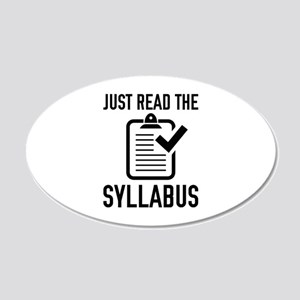 Just Read The Syllabus 22x14 Oval Wall Peel
