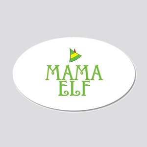 Mama Elf 22x14 Oval Wall Peel