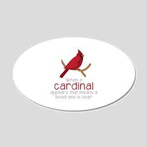 When Cardinal Appears Wall Decal