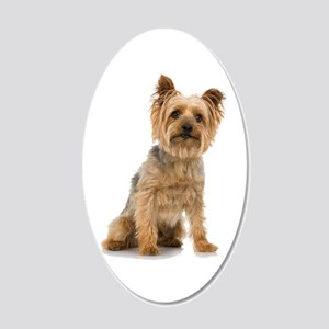 Yorkshire Terrier 20x12 Oval Wall Decal