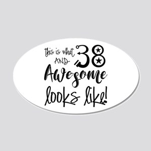 Awesome 38 Years Old 20x12 Oval Wall Decal