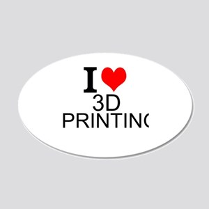 I Love 3D Printing Wall Decal