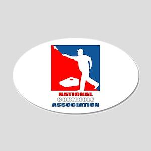 National Cornhole Association 20x12 Oval Wall Peel