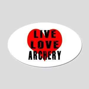 Live Love Archery 20x12 Oval Wall Decal
