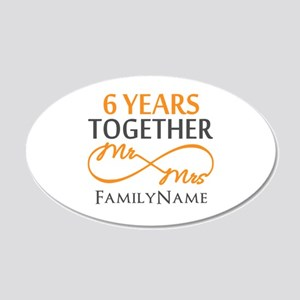 6th anniversary 20x12 Oval Wall Decal
