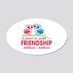 6th anniversary couple 20x12 Oval Wall Decal