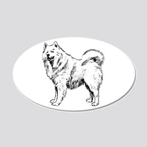Samoyed 20x12 Oval Wall Decal