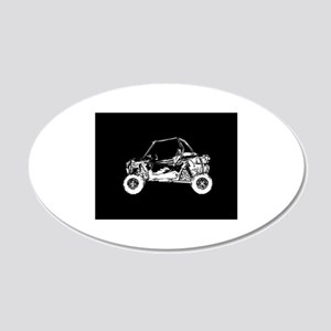 Side X Side 20x12 Oval Wall Decal