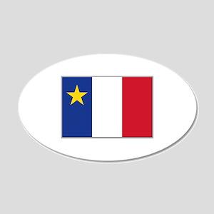 Flag of Acadia 20x12 Oval Wall Decal