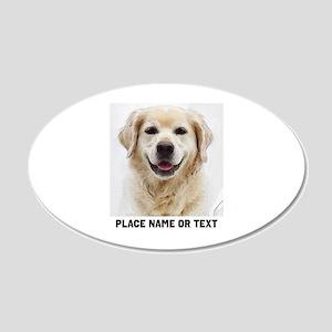 Dog Photo Customized 20x12 Oval Wall Decal